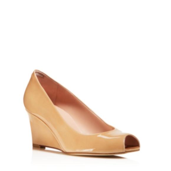 f2d3d3efab156 Stuart Weitzman Shoes | Nuanna Peep Toe Wedge Pumps | Poshmark